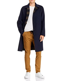 rag & bone - Brent Regular Fit Reversible Felt Coat
