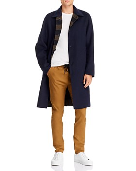 rag & bone - Brent Regular Fit Reversible Felt Coat