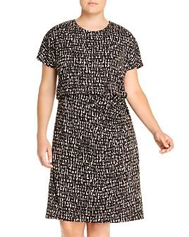 NIC and ZOE Plus - Letterpress Twist-Waist Dress