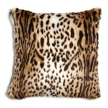 """Hudson Park Collection - Animal Faux Fur Decorative Pillow, 20"""" x 20"""" - 100% Exclusive"""