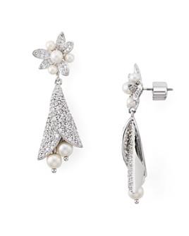 kate spade new york - Pavé & Simulated Pearl Drop Earrings