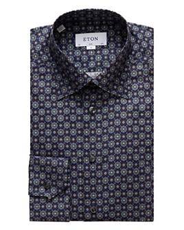 Eton - Circle Flower Pattern Slim Fit Dress Shirt