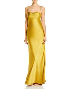 Michelle Mason - Cowl-Neck Bias-Cut Silk Gown