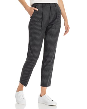 Anine Bing - Becky Cropped Pinstriped Pants