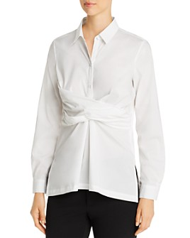 Kenneth Cole - Cotton Stretch Twist-Front Top