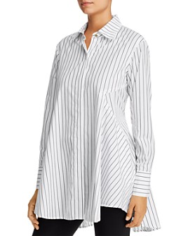 Donna Karan - Striped Cotton Tunic Shirt