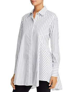 Donna Karan - Striped Cotton Tunic Shirt