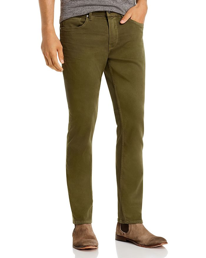 PAIGE - Federal Straight Slim Jeans in Olive Night