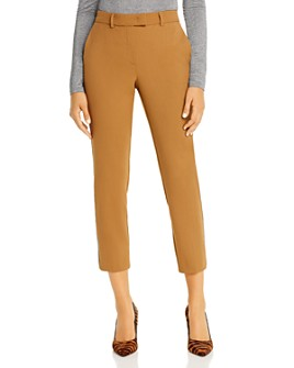 Marella - Persia Cropped Metallic-Stripe Pants
