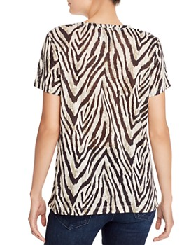Current/Elliott - The Retro Zebra Print Linen Tee - 100% Exclusive