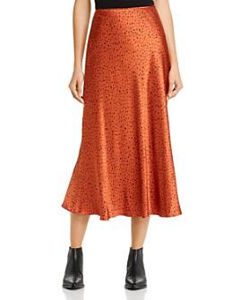 Whistles - Sketched-Dot Satin Midi Skirt - 100% Exclusive