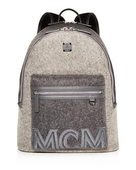 MCM - Stark Loden Color-Block Wool Backpack