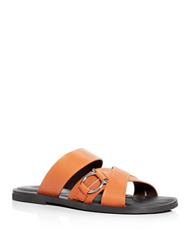 Salvatore Ferragamo - Men's Atina Leather Slide Sandals