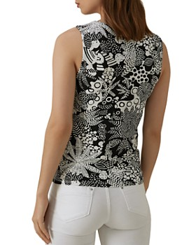 KAREN MILLEN - Crisscross Abstract Top