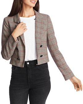 1.STATE - Plaid Cropped Blazer