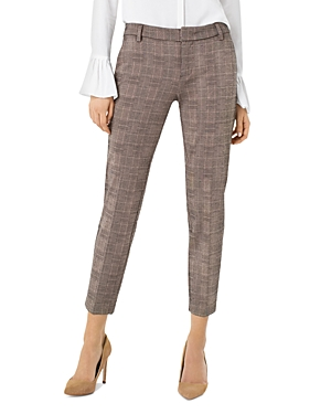 Liverpool Kelsey Glen Plaid Straight-Leg Pants