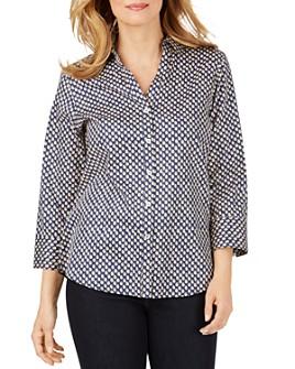 Foxcroft - Mary Wrinkle-Free Dot-Print Shirt