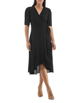 B Collection by Bobeau - Lumi Elbow-Sleeve Wrap Dress