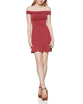 BCBGENERATION - Smocked Off-the-Shoulder Dress
