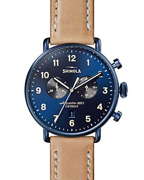 Shinola - The Canfield Tan Leather Strap Chronograph, 43mm