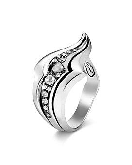 JOHN HARDY - Sterling Silver White & Gray Diamond Ring