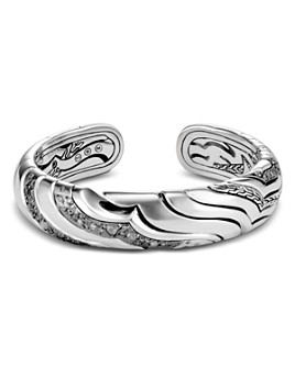 JOHN HARDY - Sterling Silver White & Gray Diamond Medium Kick Cuff