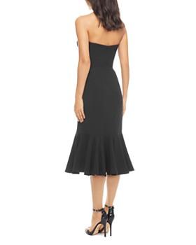 Dress the Population - Madison Strapless Fluted Midi Dress