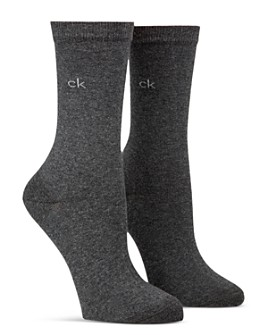 Calvin Klein - Flat Knit Crew Socks, Set of 2