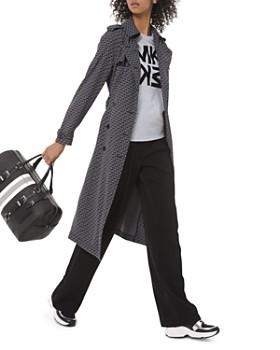 MICHAEL Michael Kors - Tonal Checkerboard Wide-Leg Pants