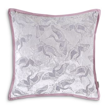 "Ted Baker - Crane Burnout Decorative Pillow, 18"" x 18"""