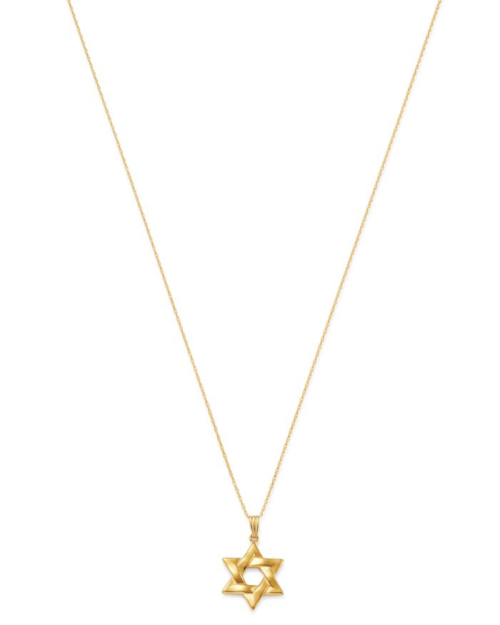 """Bloomingdale's Star of David Pendant Necklace in 14K Yellow Gold, 18"""" - 100% Exclusive    Bloomingdale's"""