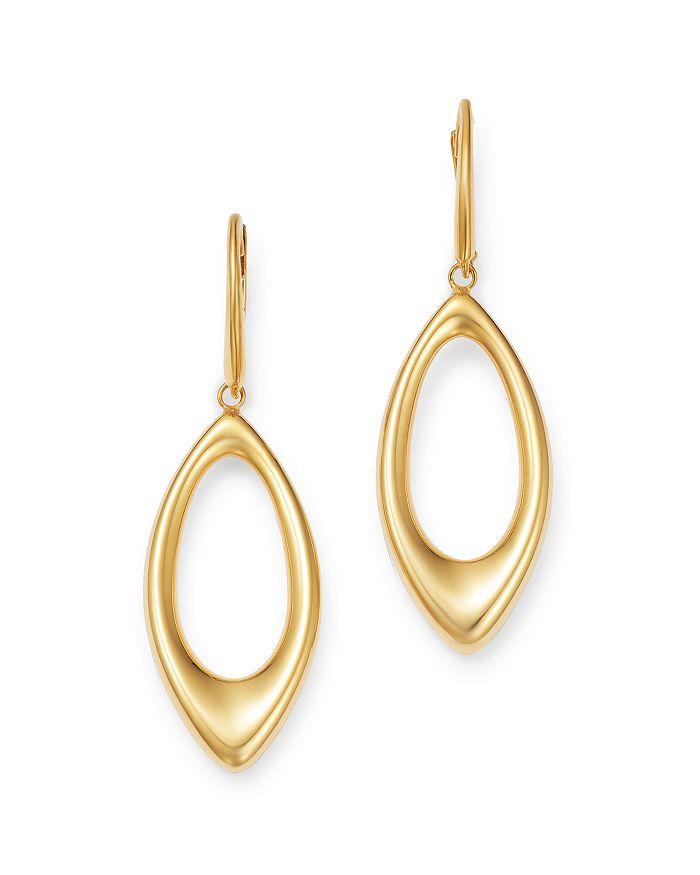 Bloomingdale's - Open Tear Drop Earrings in 14K Yellow Gold - 100% Exclusive