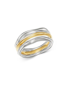 IPPOLITA - Sterling Silver & 18K Yellow Gold Chimera Squiggle Ring