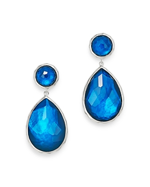 Ippolita Sterling Silver Wonderland Teardrop Earrings in Lagoon-Jewelry & Accessories