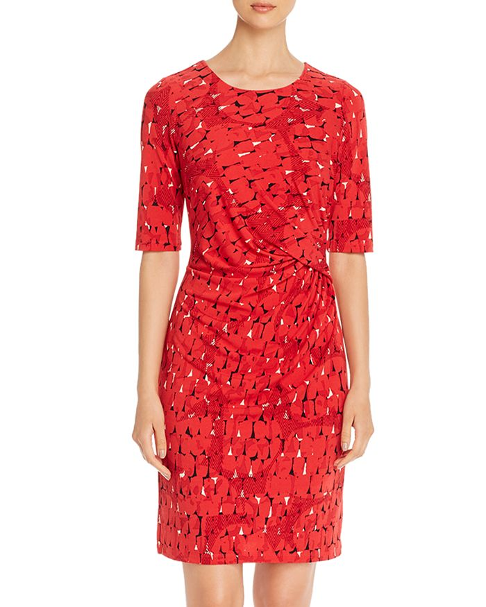 NIC and ZOE - Printed Twist-Front Dress