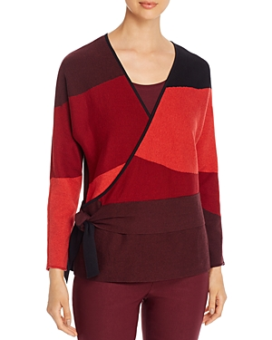 Nic+Zoe Faux-Wrap Sweater