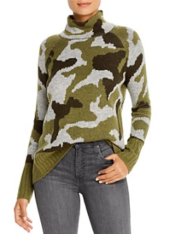 Alison Andrews - Mock-Neck Camouflage-Jacquard Sweater