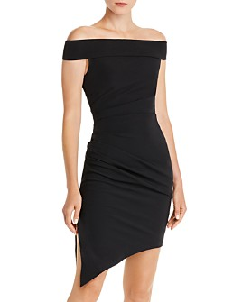 MILLY - Ally Off-the-Shoulder Asymmetric Dress