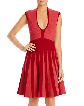 Armani - Sleeveless Knit Fit-and-Flare Dress