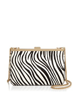 AQUA - Zebra-Print Frame Crossbody - 100% Exclusive