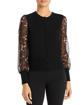 Armani - Sheer-Sleeve Knit Top