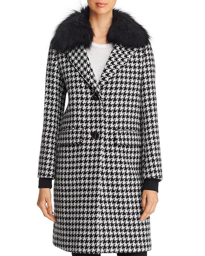 Dawn Levy - Noelle Fur Trim Coat - 100% Exclusive