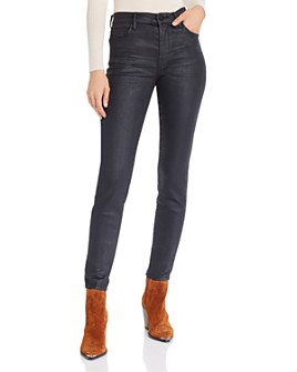 BLANKNYC - High-Rise Coated Skinny Jeans in Spartacus