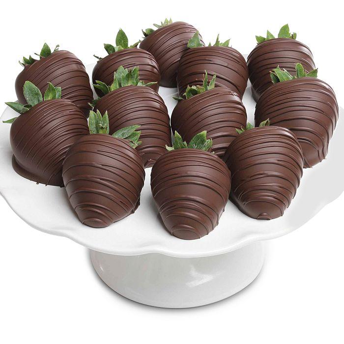Chocolate Covered Company - Belgian Dark Chocolate Covered Strawberries, 12 Piece