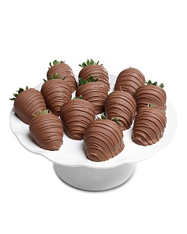Chocolate Covered Company - Belgian Milk Chocolate Covered Strawberries, 12 Piece