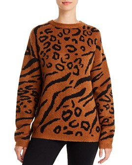 Line & Dot - Alee Animal-Jacquard Sweater