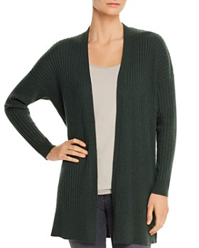Eileen Fisher - Ribbed Cashmere Open Cardigan Sweater