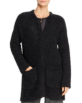 Eileen Fisher Petites - Textured Snap-Front Cardigan