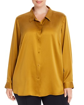 Eileen Fisher Plus - Silk Classic Button-Down Shirt