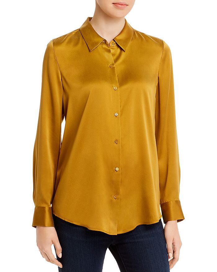 Eileen Fisher Petites - Silk Button-Front Blouse